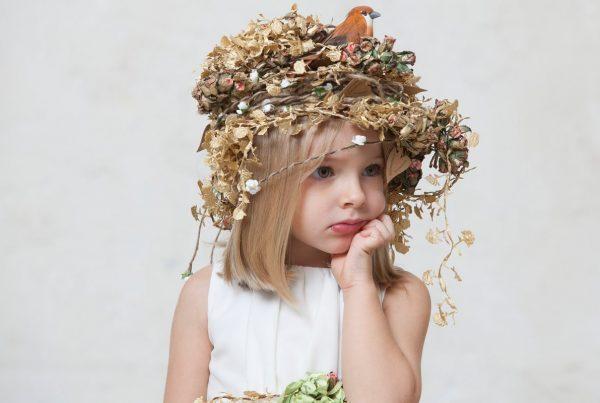 tocado de ceremonia para niñas