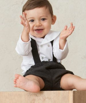 camisa bebé blanca manga larga cuello marinero