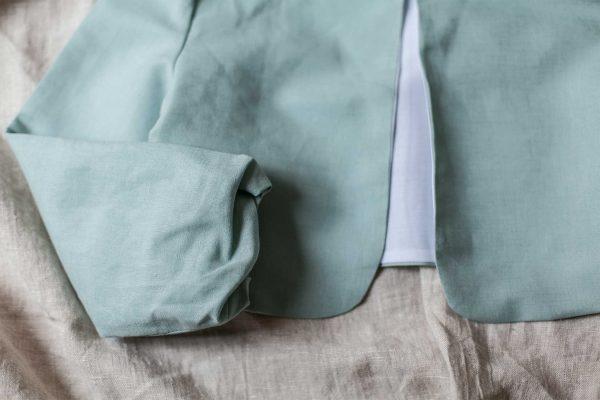 bolero de lino para comunión y ceremonia de color y tejido a elegir