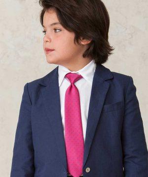Corbata de seda de niño. Complementos para niño de ceremonia y comunión de Quémono!