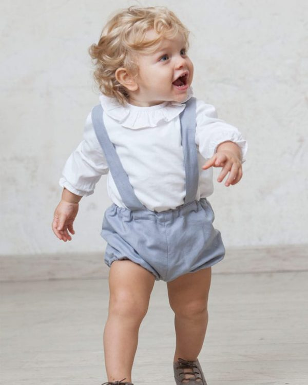 camisa de boda de bebé
