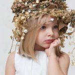 vestido de ceremonia y arras de tul plumeti