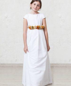 vestido de comunión de manga cuchara
