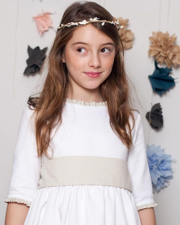 vestido de comunión de outlet para niña
