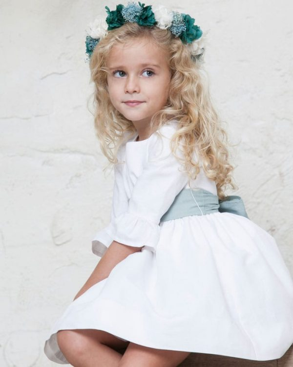 vestido de niños de arras de lino