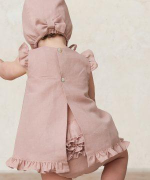 cubrepañal de bebé para niña rosa
