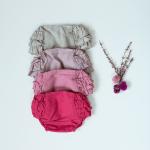cubrepañal de bebé niña de lino rosa