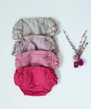 culetín de ceremonia de lino para bebés