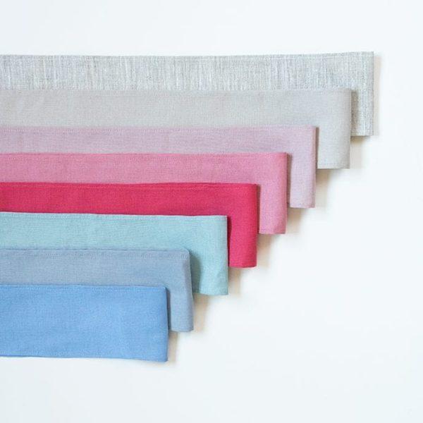 fajines de lino en muchos colores para hacer lazo en vestidos