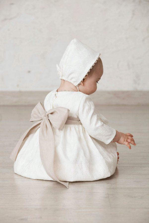 fajín de lino para hacer lazo en vestidos de bebé