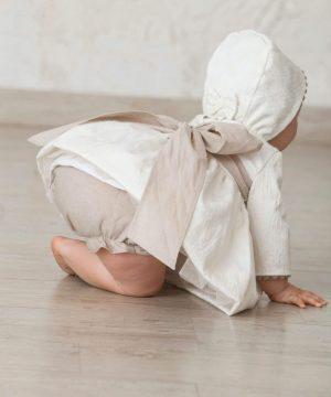 cubrepañal de lino de ceremonia de bebé para verano
