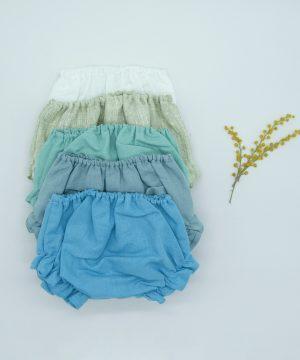 culetín sencillo de lino azul para invitados