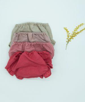 culetín de lino sencillo para bebé