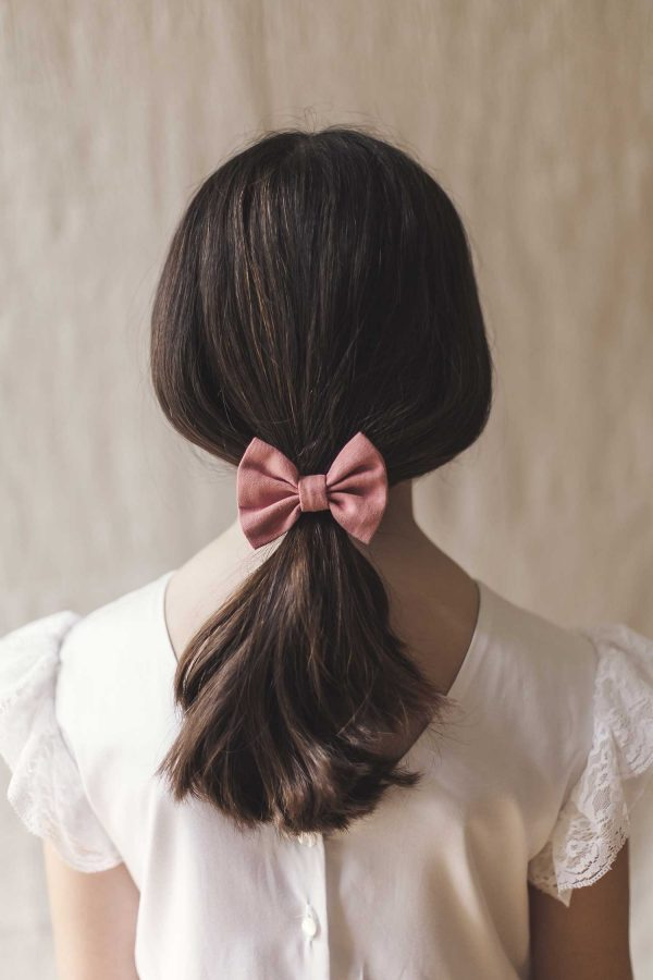 Lazo del pelo para niñas, de comunión o de ceremonia de lino, de color a elegir