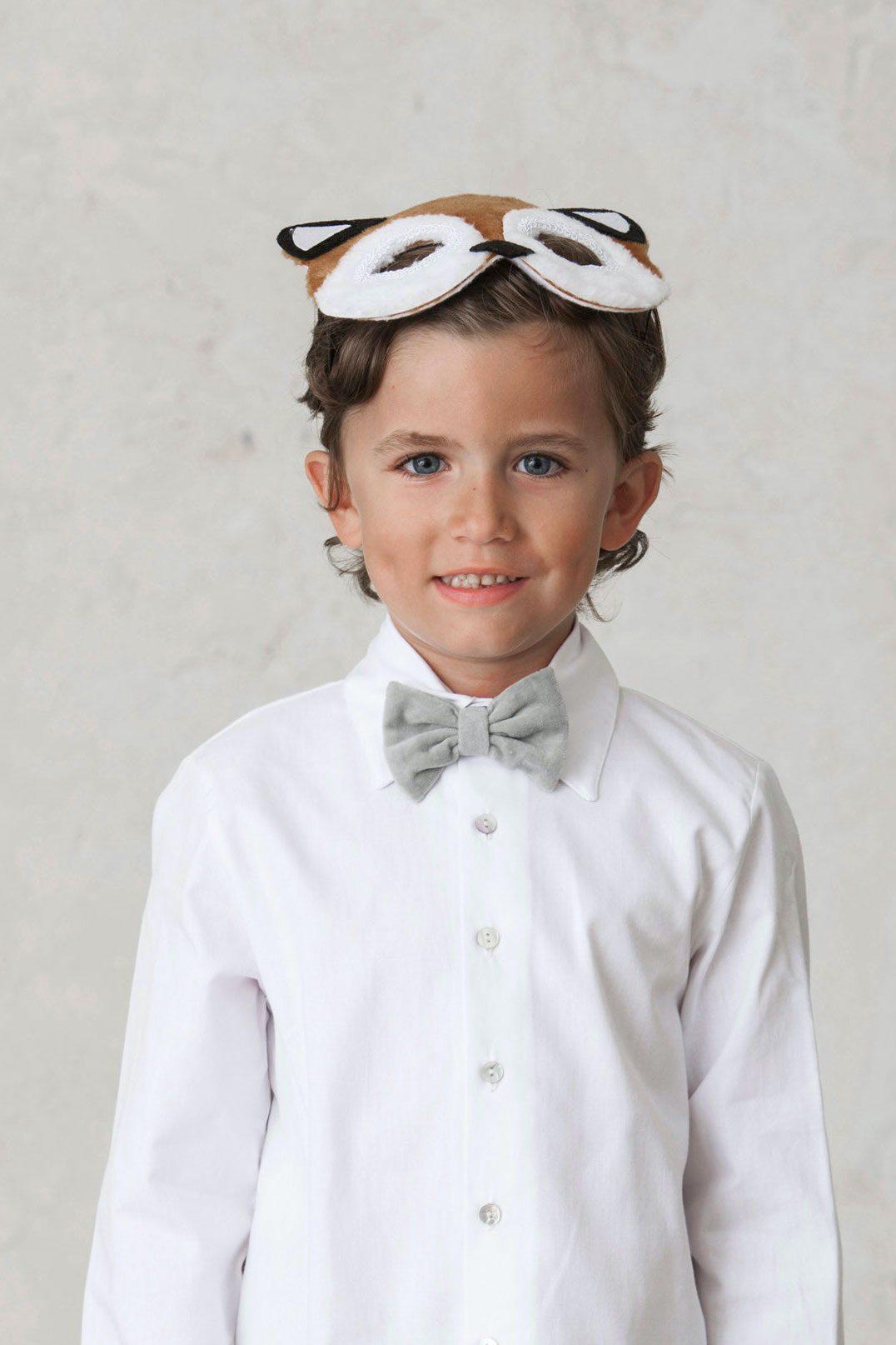 pajarita de terciopelo de ceremonia para niño