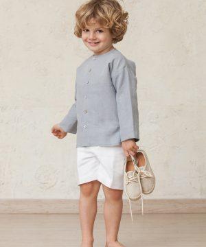 camisa de lino de niño