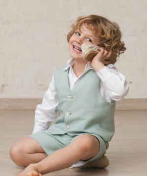 chaleco de vestir para niño
