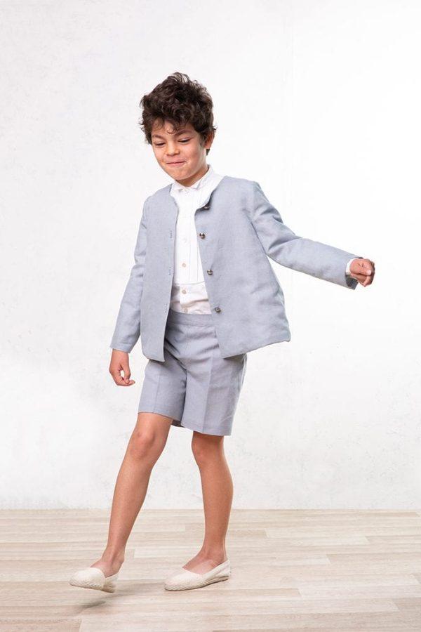 chaqueta de comunión y ceremonia de lino para niño