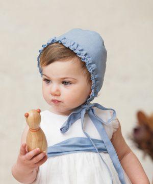 capota azul de bebé
