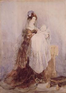 """cuadro """"El bautizo"""" 1830 - 1832 de David Cox"""