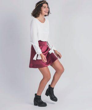 blusa blanca elegante para niñas mayores y adolescentes