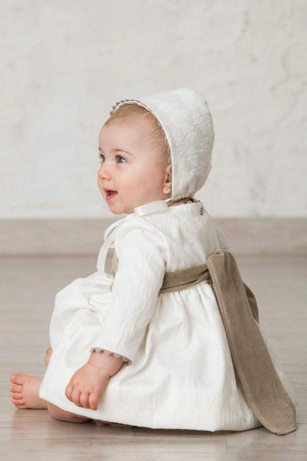 fajín de ceremonia para bebés de terciopelo para invierno
