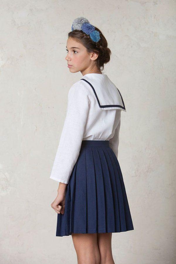 conjunto de comunión diferente con falda y casaca marinero