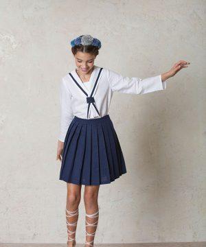 vestido de comunión de marinero para niñas