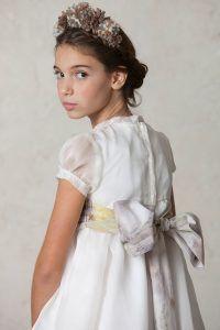 vestido de comunión de organza