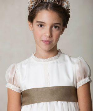 fajín de organza de niña para vestidos de comunión