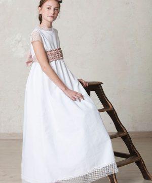 vestido primera comunión moderno redecilla