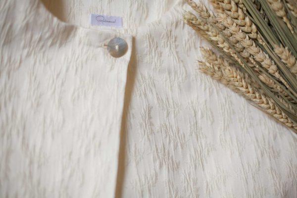 chaqueta de comunion o ceremonia personalizare, de tejido brocado