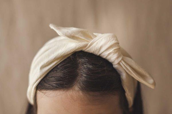 Tocados para el pelo de comunión, diadema pañuelo de ceremonia de tejido brocado