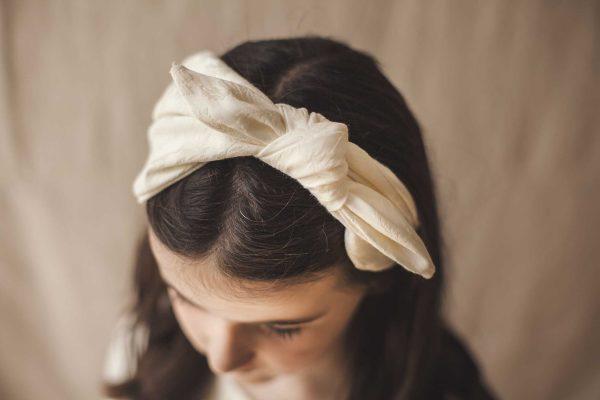 Adornos para el pelo de comunión, diadema pañuelo de ceremonia de Quémono