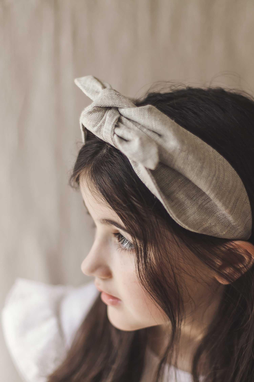 diadema pañuelo de ceremonia para niña