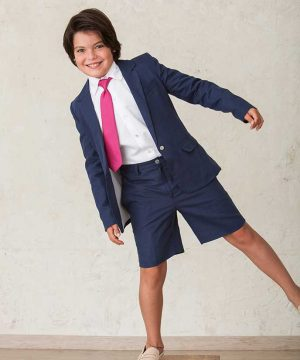 Traje de comunión de niño de pantalón corto