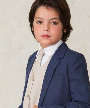 corbata de lino de niño para bodas