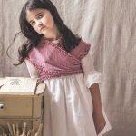mañanita de comunión o ceremonia de algodón para niña