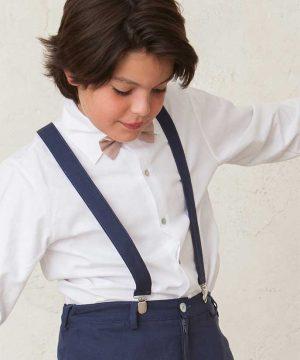 tirantes de lino de ceremonia para niño