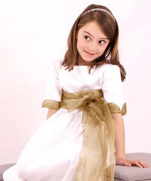 Vestido de comunión de outlet de organza