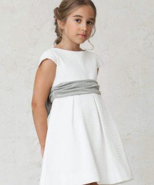 fajin gris para vestidos de ceremonia de invierno