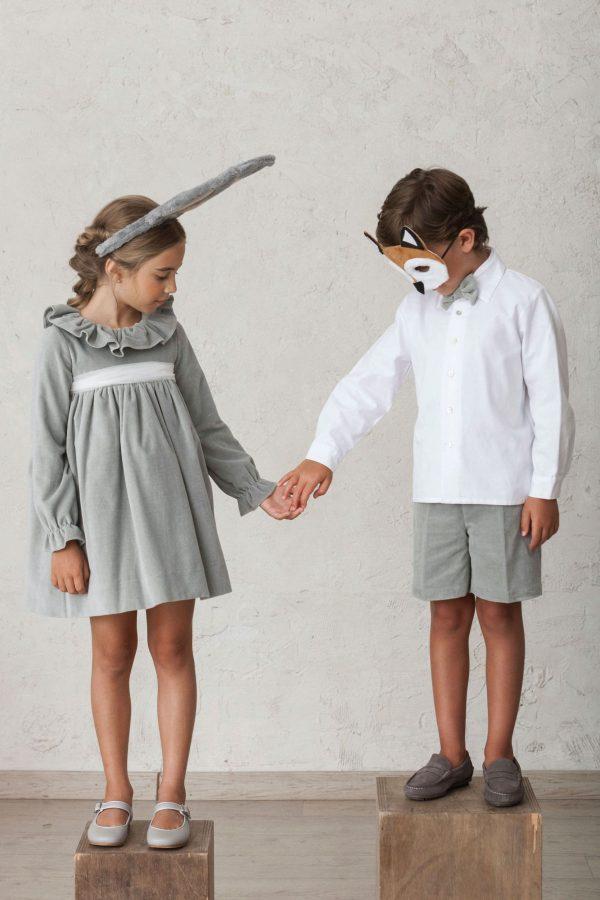 hermanos conjuntados vestido y pantalón a juego de invierno