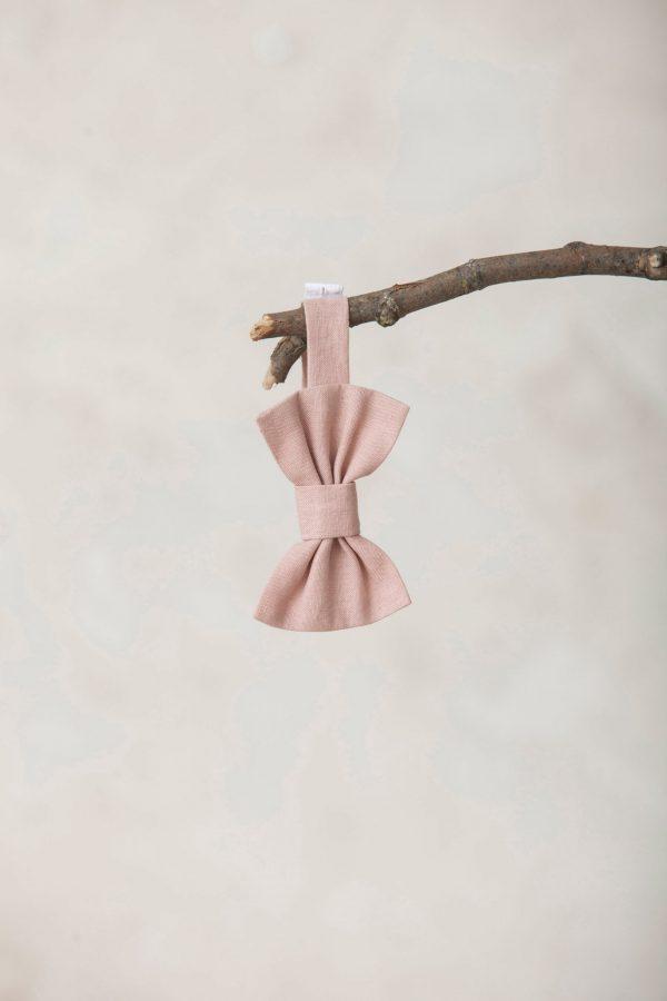 pajarita de lino rosa para niños
