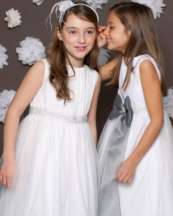 Vestido de comunión de outlet de tul