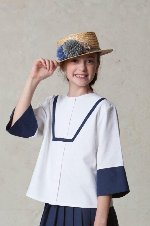 sombrero de paja para niñas de arras