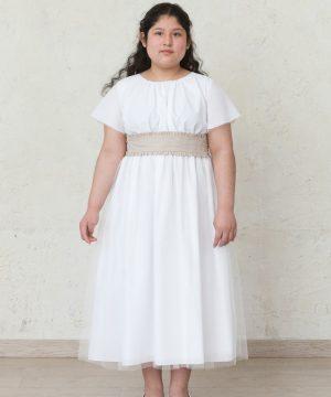vestido de comunión de tallas grandes para niña