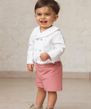 bermuda rosa de bebé