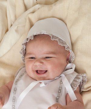 capota de bautizo de bebé