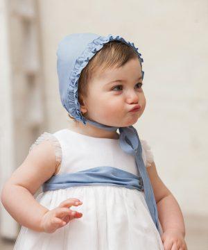 fajín azul de bebé