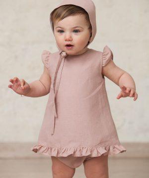 jesusito de bebé en rosa nude para ceremonia